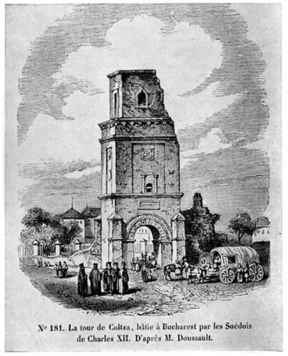 Turnul Colţei, 1842 desen de Doussault
