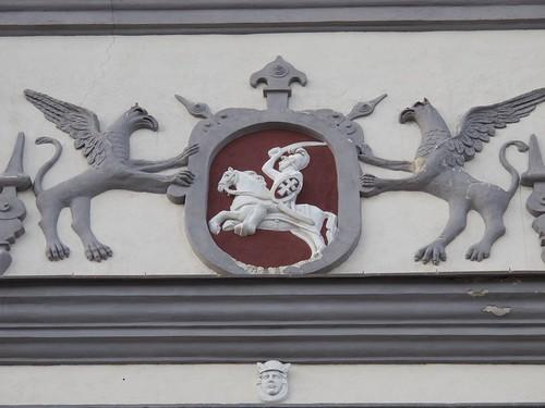 Vytis on the Bazilijonų gatvė in Vilnius