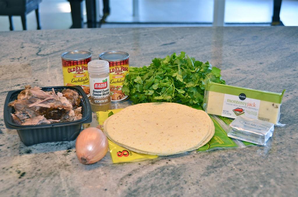 Cheesy Pork Enchiladas