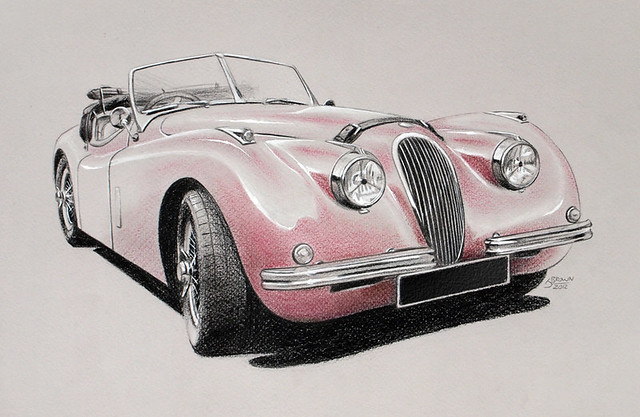 jaguar car drawing - photo #46