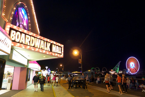 Boardwalk at night.