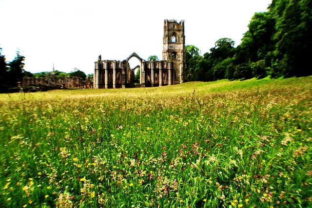 Fountains Abbey. Yorkshire