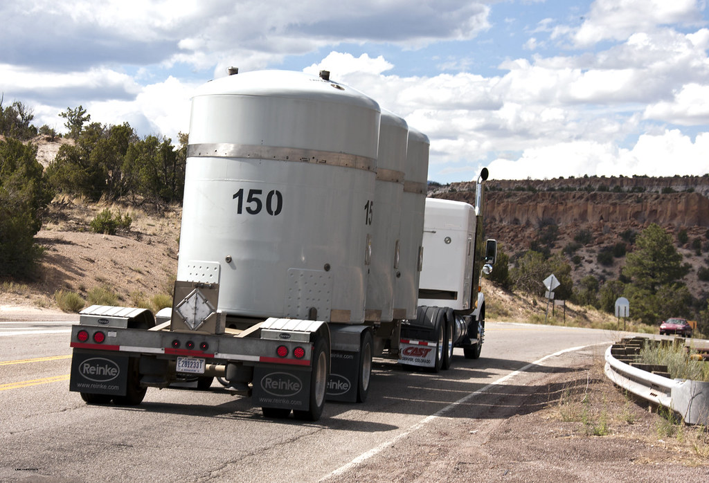 The Los Alamos National Laboratory's 1000th shipment of transuranic waste leaves the Laboratory on its way to the Waste Isolation Pilot Plant near Carlsbad, N.M.
