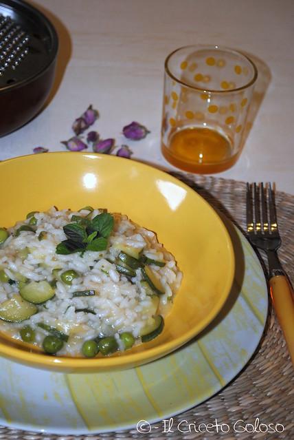 Risotto con zucchine e piselli alla menta (3)