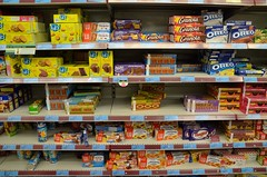 chocolate cookie section