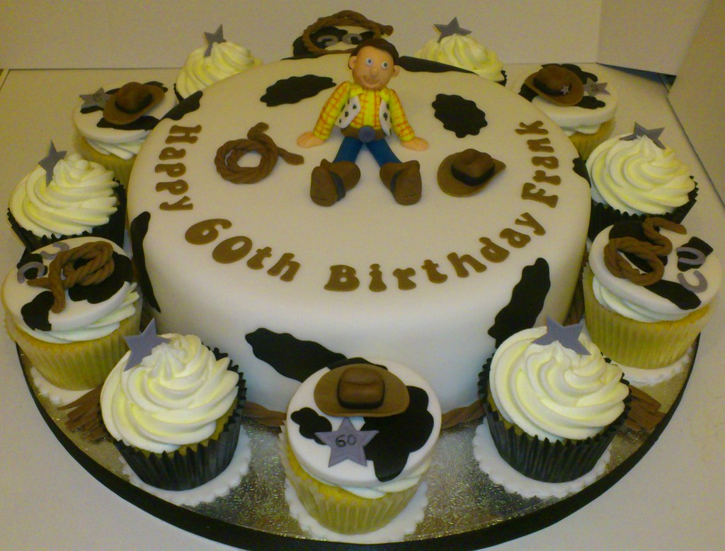 Cowboy Theme 60th Birthday Cake
