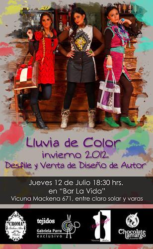 """DESFILE/EXPO&VENTA """"Lluvia de color, Invierno 2012"""" by Chocolate Amargo, Diseño de Accesorios"""