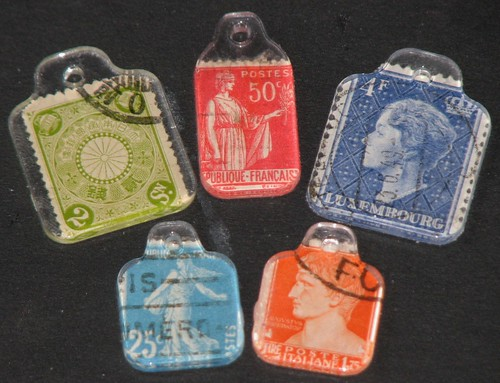 Postage Stamp Charms 005