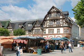 Market day in Bad Homburg, Germany