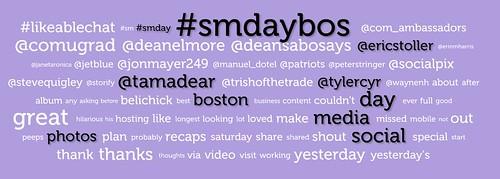 Social Media Boston 2012 Tag Cloud