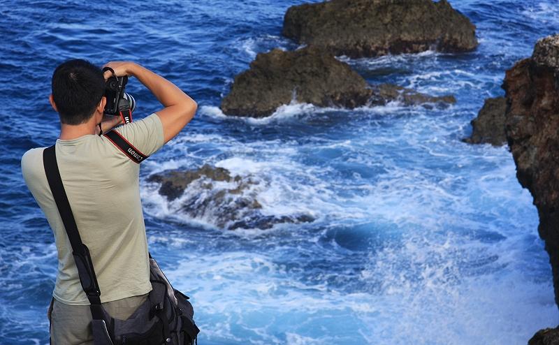 小琉球拍海浪