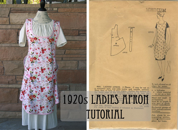 1920s Ladies Apron Tutorial