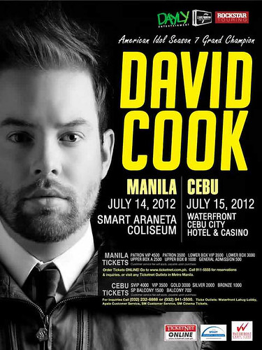 David Cook concert Cebu City