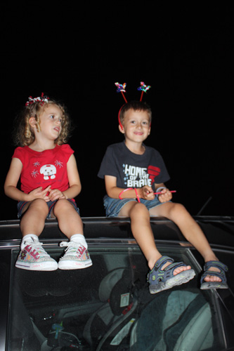Kids-on-top-of-car