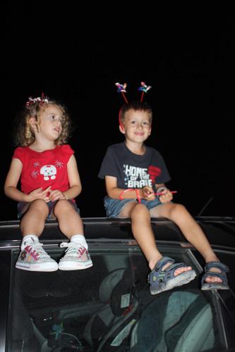 Kids-on-top-of-car