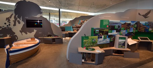 Inside the new Giant's Causeway Visitor Centre. Credit Peter Nash