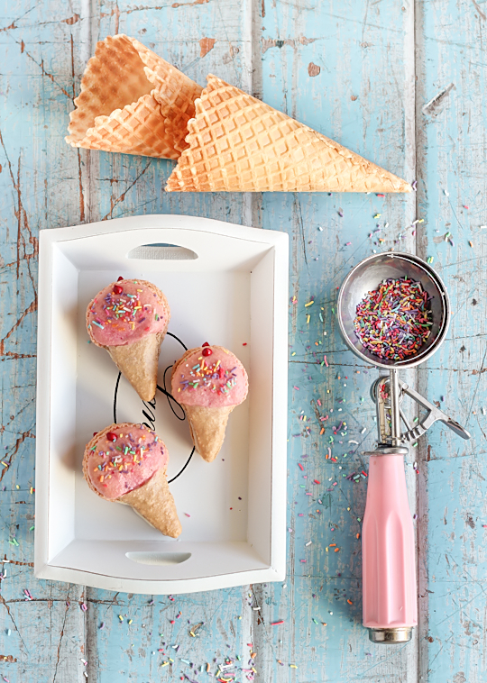Ice Cream Cone Macarons