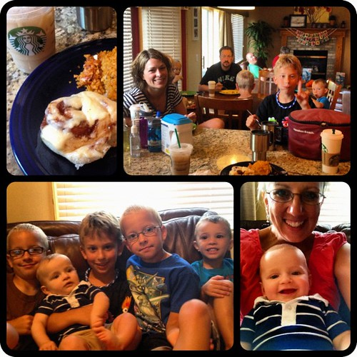 July photo a day: Day 8: lunch (however I'm changing it to brunch) Having brunch with my family before they leave. Loved having them here to visit!