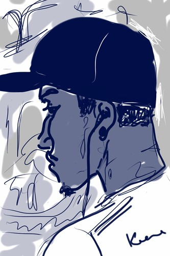 iPhone sketch portrait