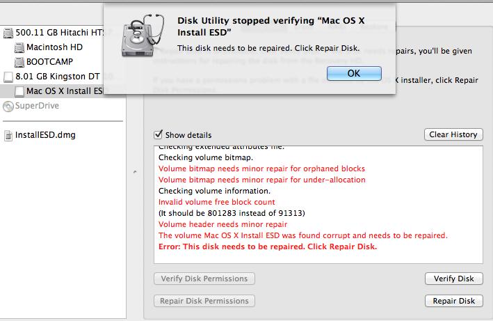 Verify Disk