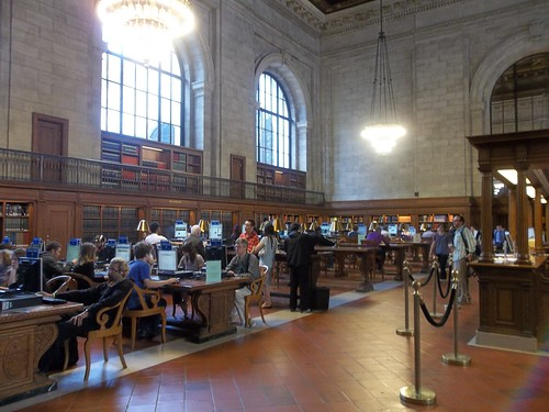 One reading room, Bryant Park Public Library