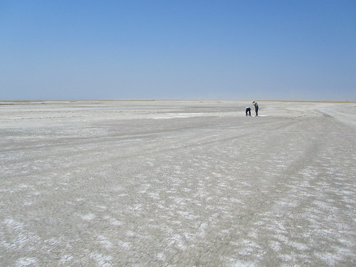 We visited the salt flats along the lake