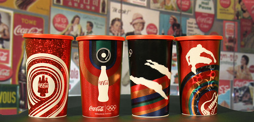 2012 Coca-Cola Promo 350 ml plastic cups London Olympics Brazil by roitberg