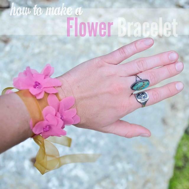 Flower Bracelet Headband