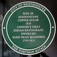 Photo of Hindoostane Coffee House and Sake Dean Mahomed green plaque