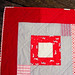 Red + Gray quilt block detail