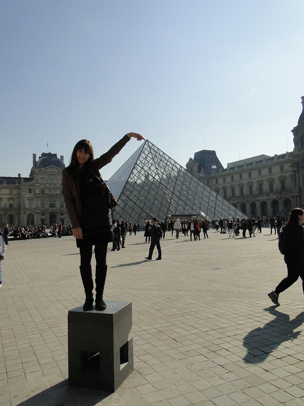 Mandy at the Louvre