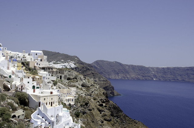 Views from scenic Santorini by flickr user BruceHH