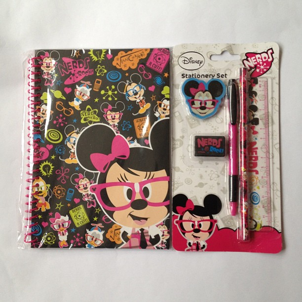 #disney #minniemouse #nerds #notebook #stationery #pen #pencil #rubber #shapner #cute