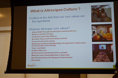 A slide from the Allrecipes presentation.