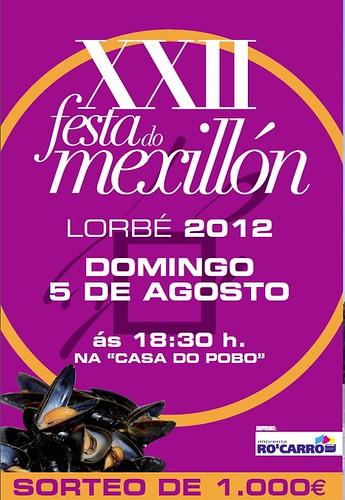 Oleiros 2012 - Festas do Carme en Lorbé - cartel festa do Mexillón