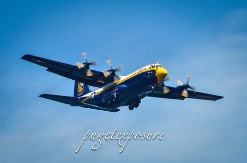 """Navy Blue Angels """"Fat Albert on a Parade Photo Pass"""""""