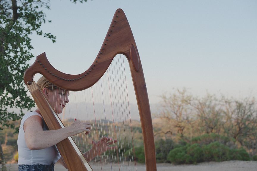 Harpist Mary Bouley