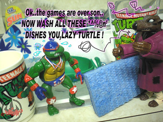 """TURTLE GAMES"" TEENAGE MUTANT NINJA TURTLES :: SUPER-SWIMMIN' RAPH xxi /  ..super swim (( 1992 ))"