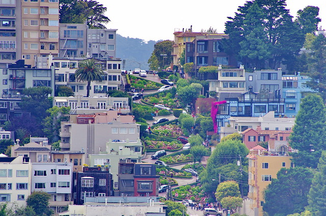 San Francisco seen from the Coit Tower 20 Lombard Street