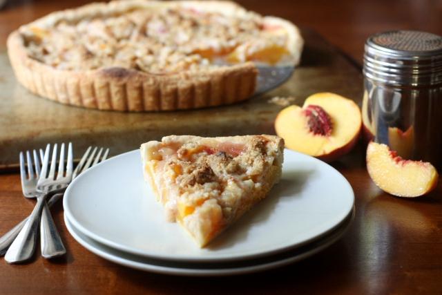 Peach Crumb Tart