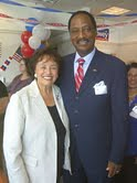 With Rockland County Legislator Toney Earl of Ramapo.