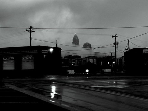 Downtown in the Rain