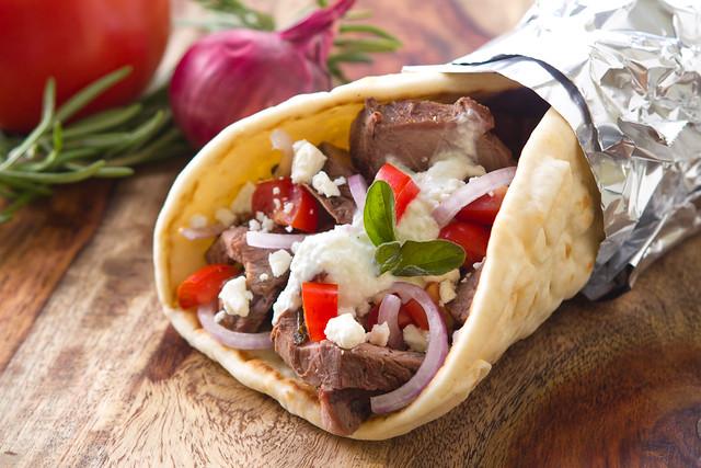 Lamb Gyro | A fresh homemade lamb gyro. Here is the recipe i ...