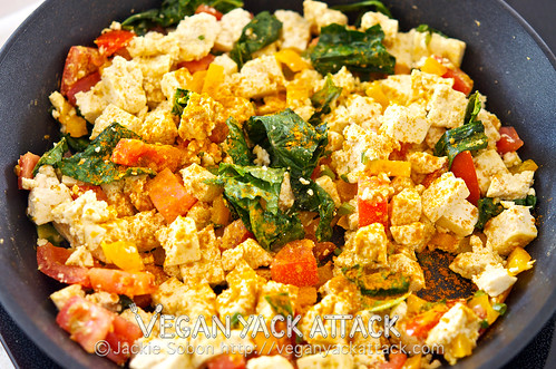 A hearty, tasty, but healthy breakfast, this Tofu Scramble for Two is perfect! With nearly 25 grams of protein per serving, this will keep you satisfied!