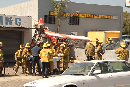 LAFD Rushes to Plane Crash in Pacoima