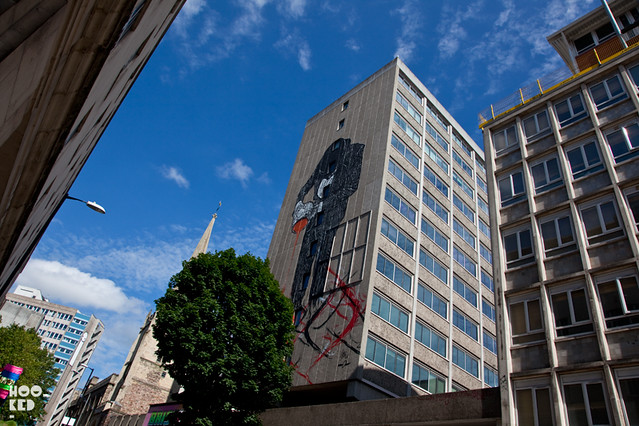 Street Art Mural in Bristol by artists NIck Walker and Sheone