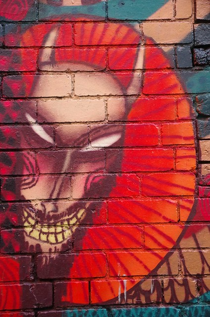 Demon Spirit - Melbourne Street Art - Little Latrobe St