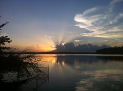 Sunset over Lake Crabtree