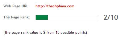 Pagerank của Thachpham.com
