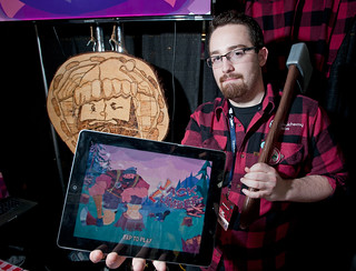 Alex Schwartz shows off Jack Lumber at PAX East 2012